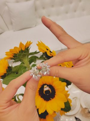 BÔNG TAI MOISSANITE CUSHION YELLOW PHỐI MARQUISE