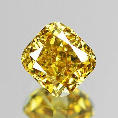Moissanite Fancy Light Yellow Cushion