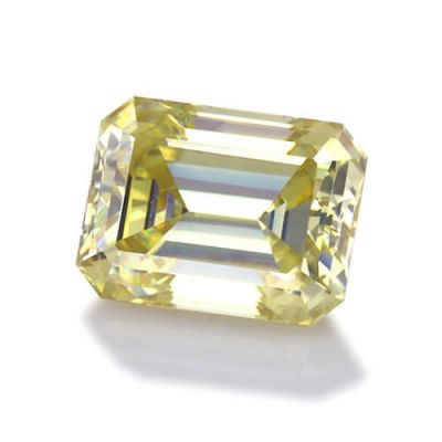 Moissanite Fancy Light Yellow Emerald