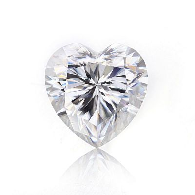 Moissanite Heart