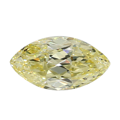 Moissanite Fancy Light Yellow Masquise