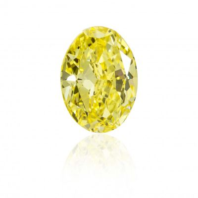 Moissanite Fancy Light Yellow Oval