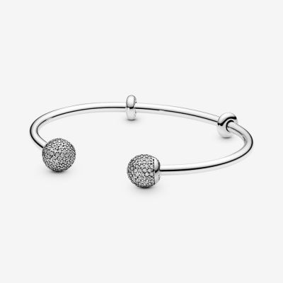 Pandora Moments Open Pavé Bangle