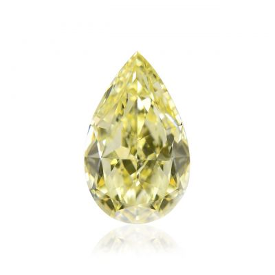 Moissanite Fancy Light Yellow Pear