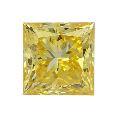 Moissanite Fancy Light Yellow Princess