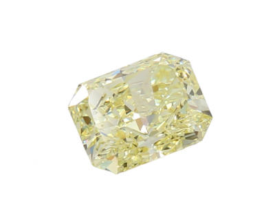 Moissanite Fancy Light Yellow Radiant