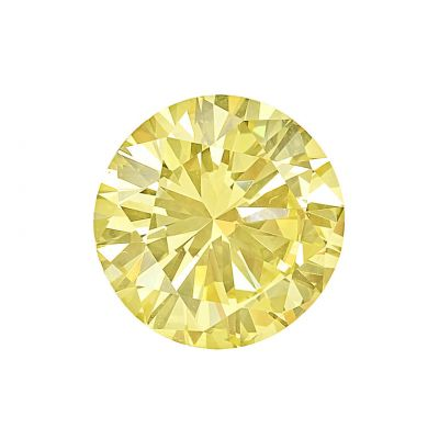 Moissanite Fancy Light Yellow Round