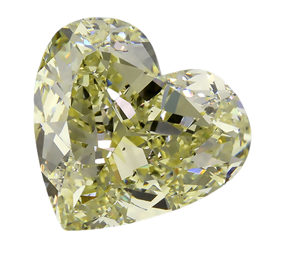 Moissanite Fancy Light Yellow Heart
